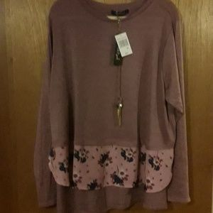 Heart Soul top with necklace nwt